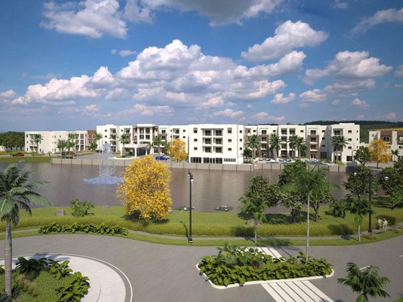 View amavida rendering over lake