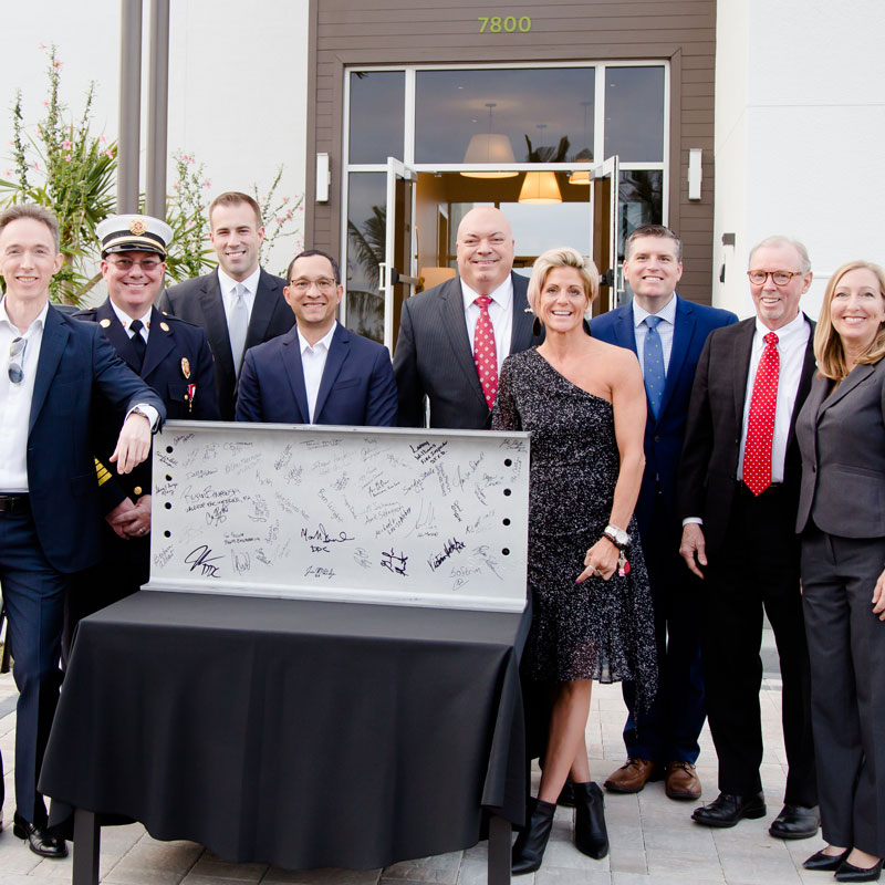 Group photo at grand opening