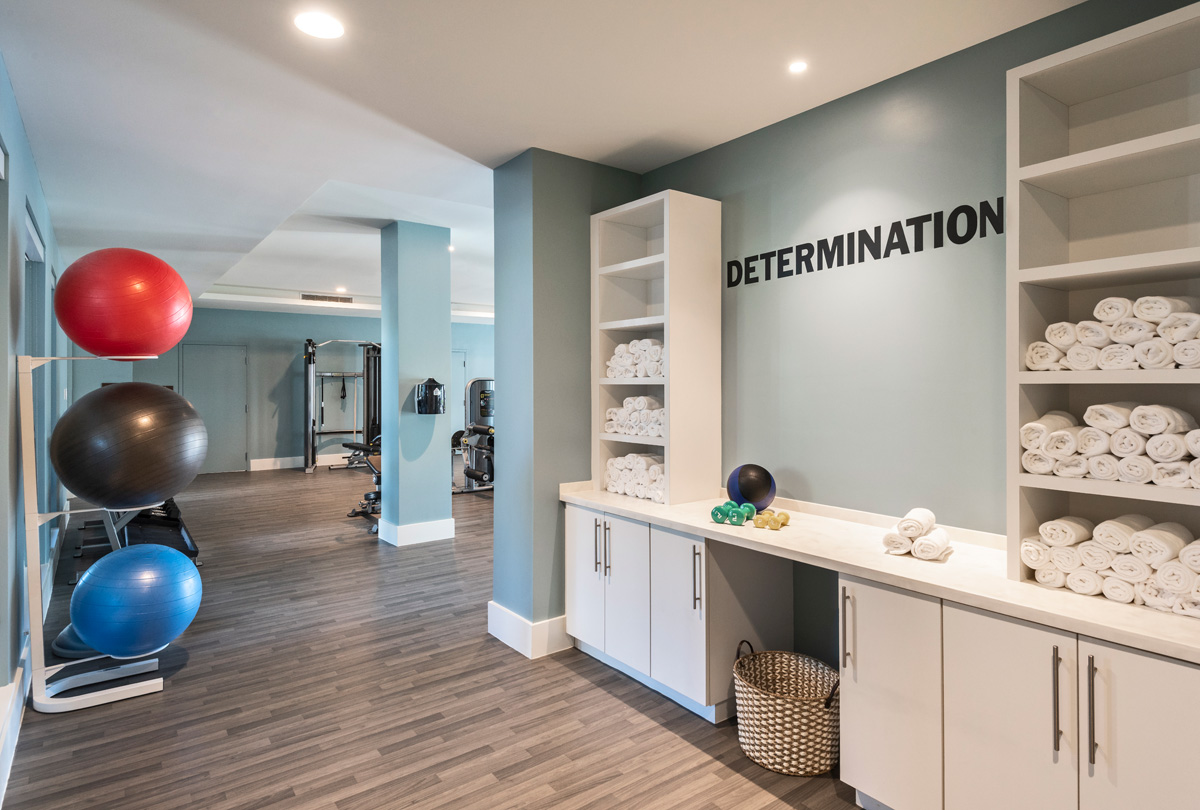 An active lifestyle as been a hallmark for many residents who select amavida and our fitness center is a favorite location.