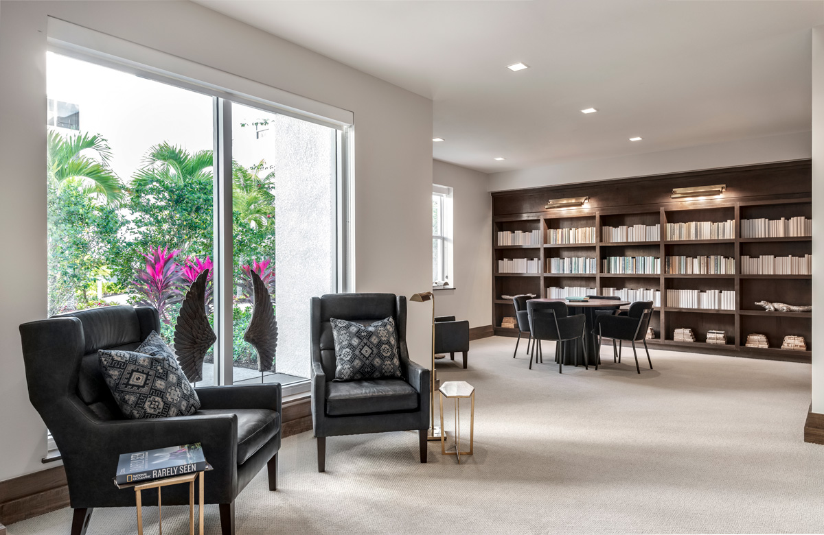 Waters Edge Independent Living Library.