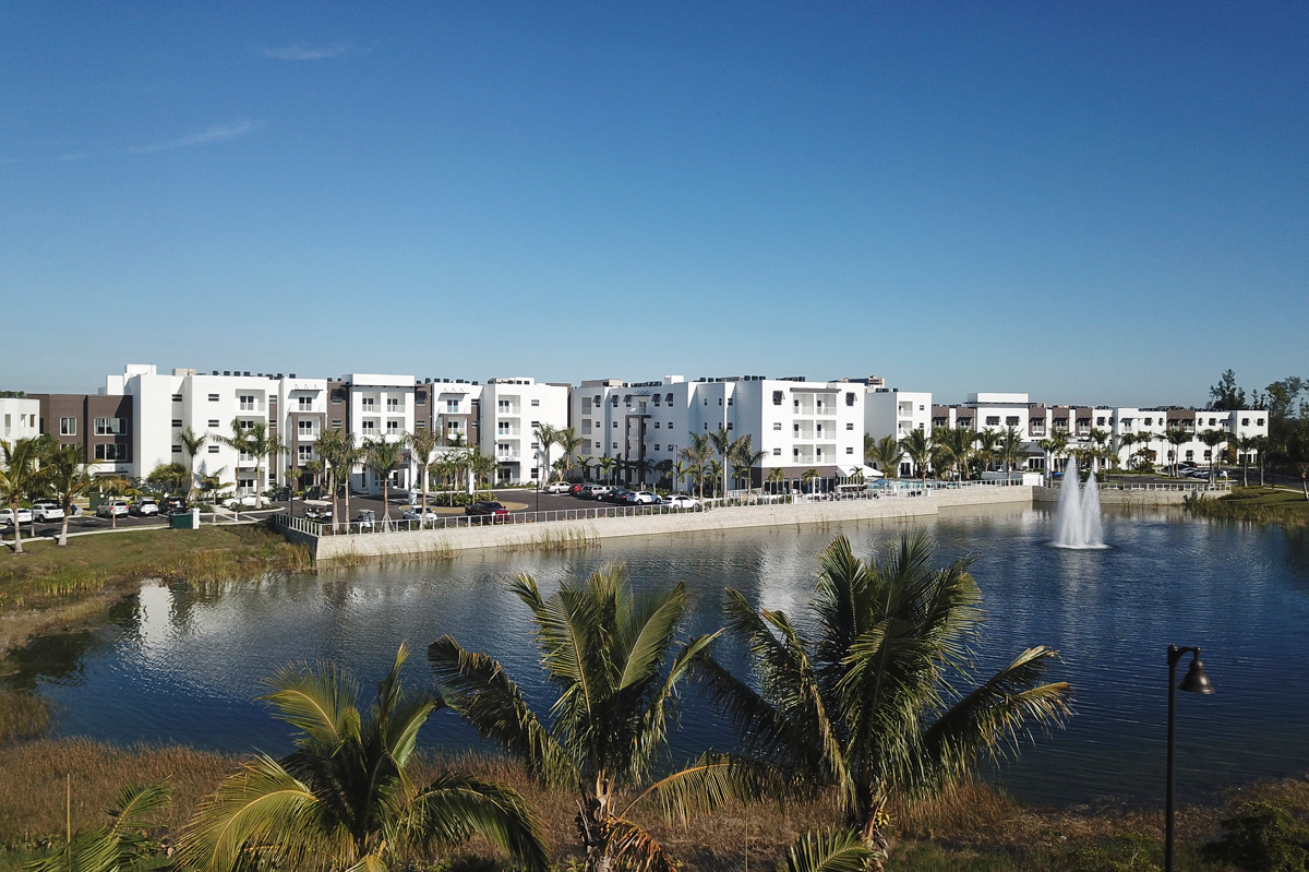 Waters Edge independent living over looking our front lake and fountain.